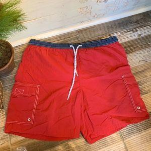 Vintage Tommy Hilfiger Men Swim Trunks Crimson M